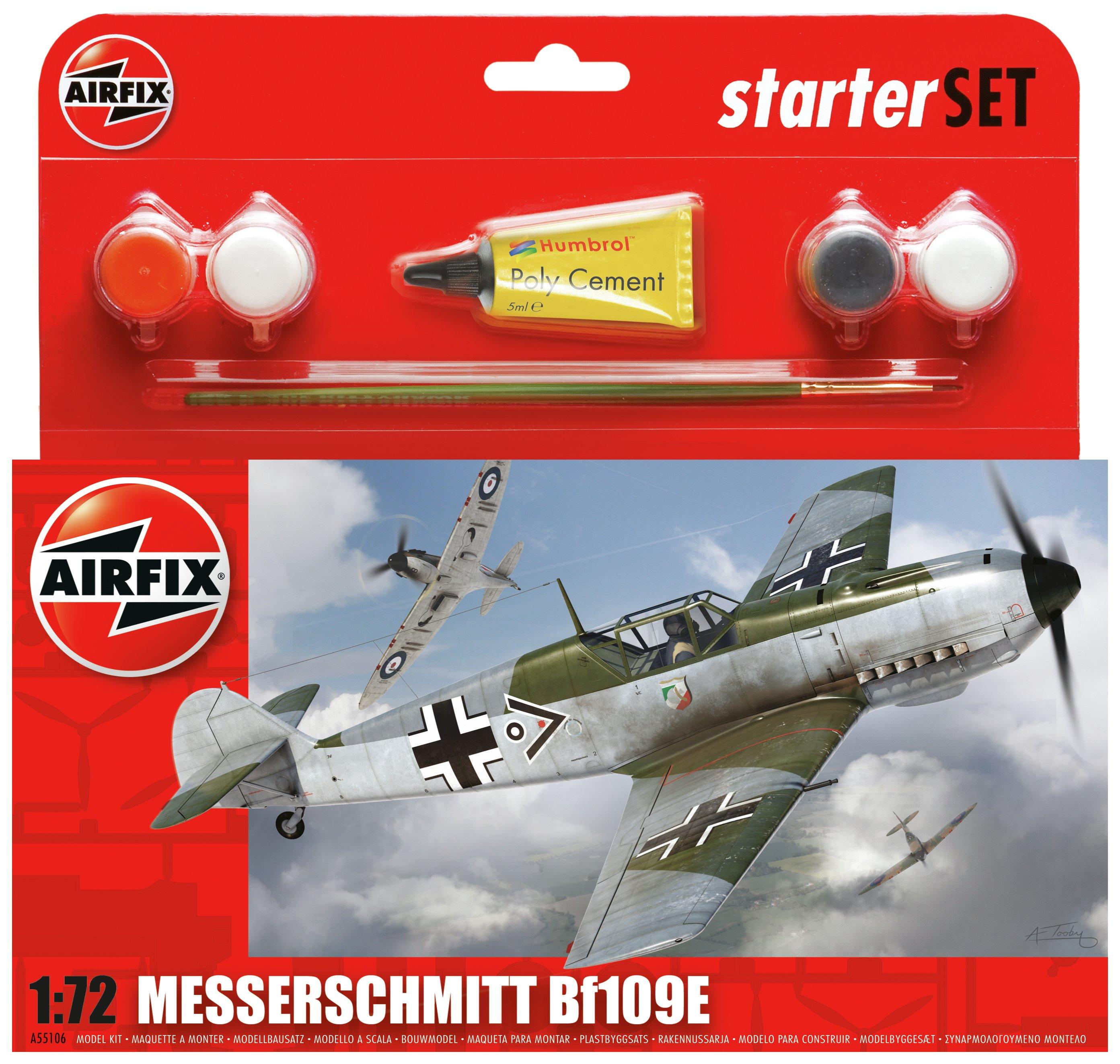 Image of Airfix Messerschmitt BF109E Aircraft Model Kit.