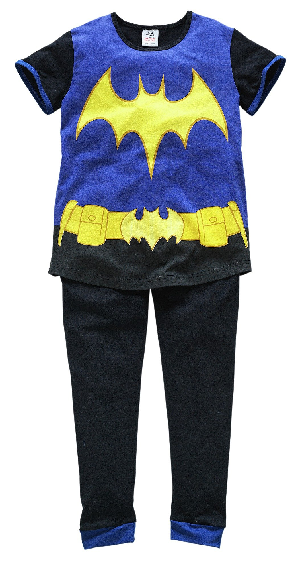 Image of DC - Girls Batgirl Cotton Pyjamas - 7-8 Years
