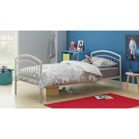 Collection - Archie Heavy Duty Single Bed - Light Grey