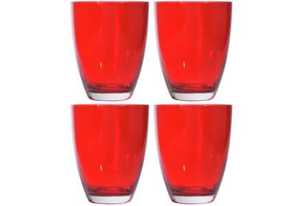 HOME Everyday Set of 4 Tumblers - Red