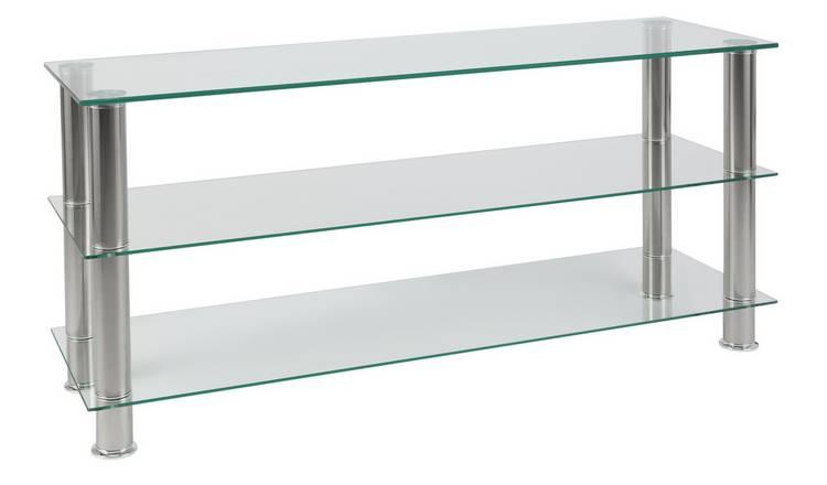 san francisco c55b7 8c31b Buy Argos Home Matrix Glass TV Bench - Clear | TV stands | Argos