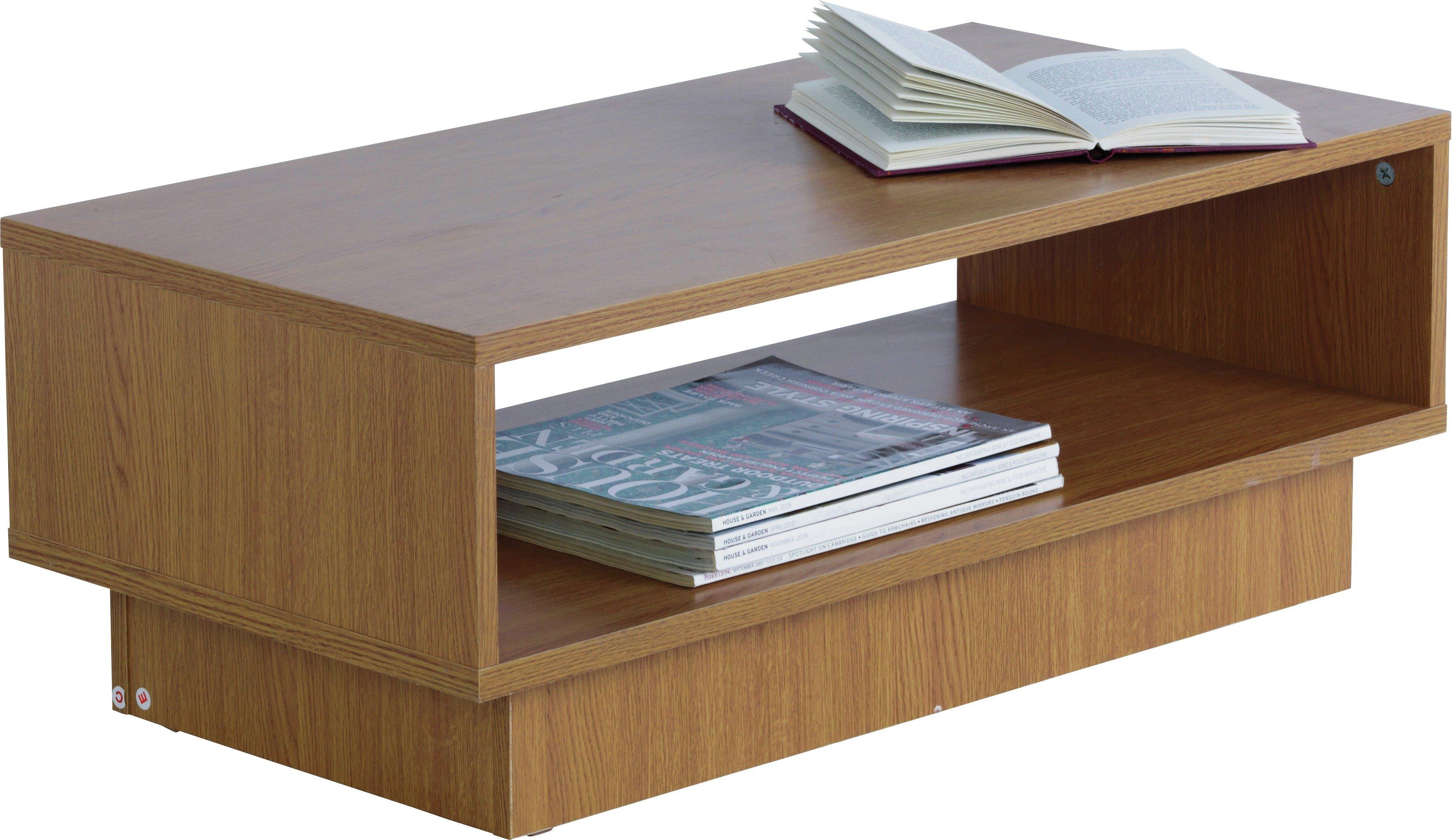 buy home cubes 1 shelf coffee table - oak effect at argos.co.uk