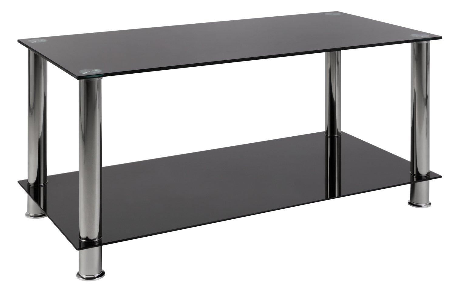 Buy Argos Home Matrix Coffee Glass Table Black Coffee Tables
