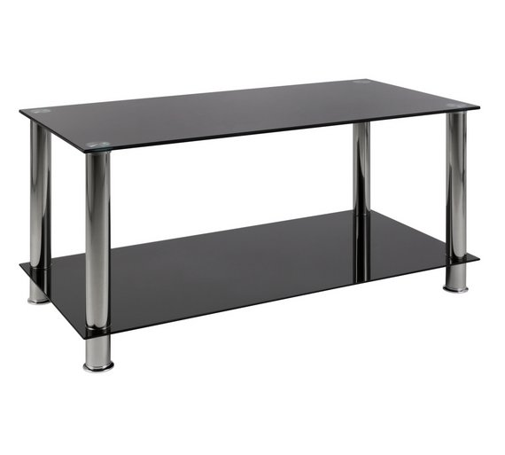 Tanquin Black Glass And Gold Coffee Table: Buy HOME Matrix Coffee Table