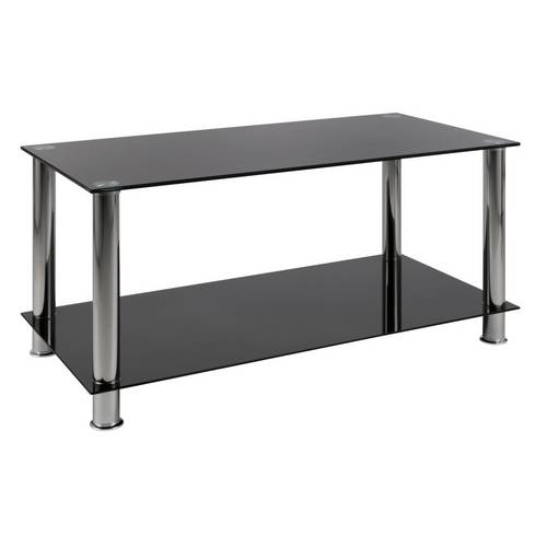 Buy Argos Home Matrix Coffee Glass Table - Black