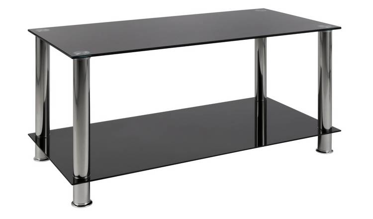 Argos Home Matrix Coffee Glass Table - Black