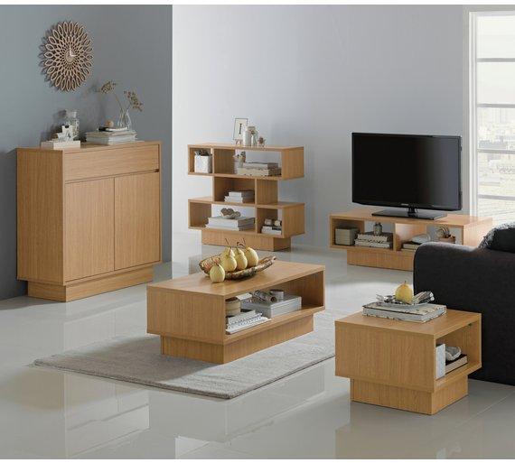 Buy Home Cubes 1 Shelf End Table Oak Effect At