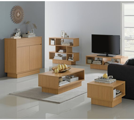 Buy Home Cubes 1 Shelf End Table Oak Effect At