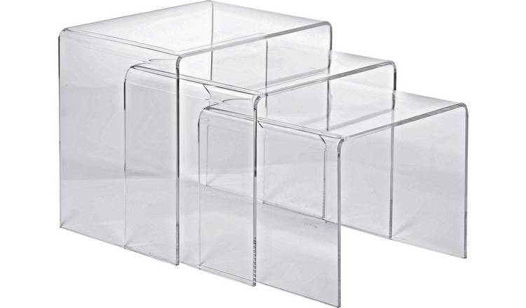Buy Argos Home Mistral Nest of 3 Tables - Clear Acrylic | Nest of tables |  Argos