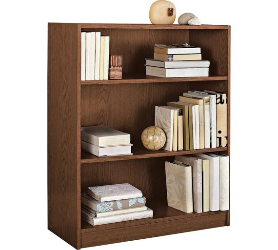 Buy home maine 2 shelf small bookcase walnut effect at Walnut effect living room furniture