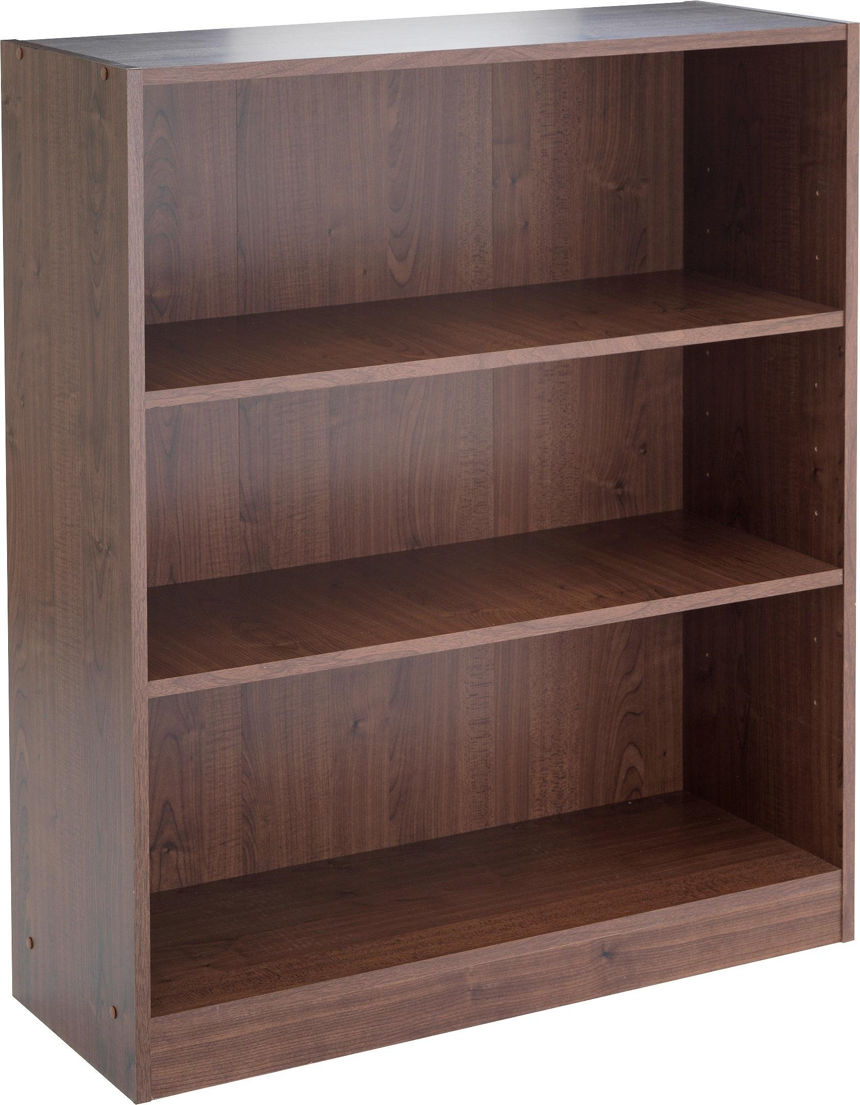 buy home maine small bookcase walnut effect