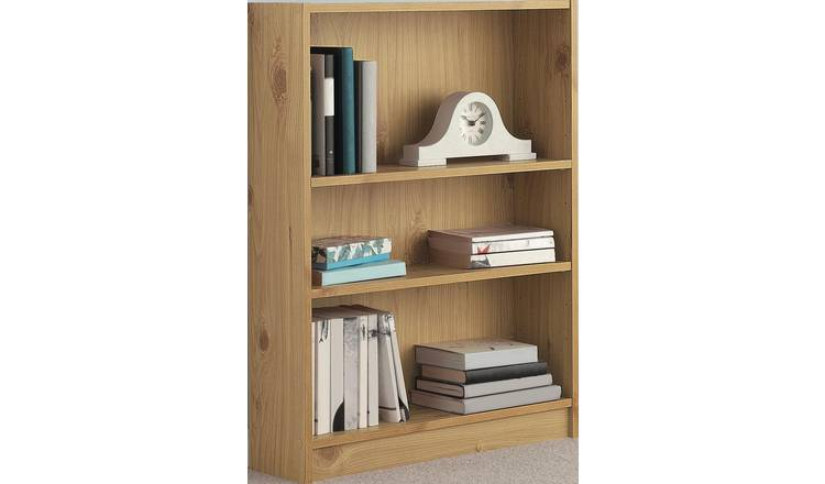 Habitat 2 Shelf Small Bookcase - Oak Effect