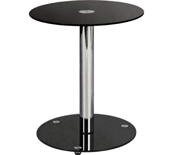 Buy home matrix round glass lamp table black coffee tables side home matrix round glass lamp table black aloadofball Image collections