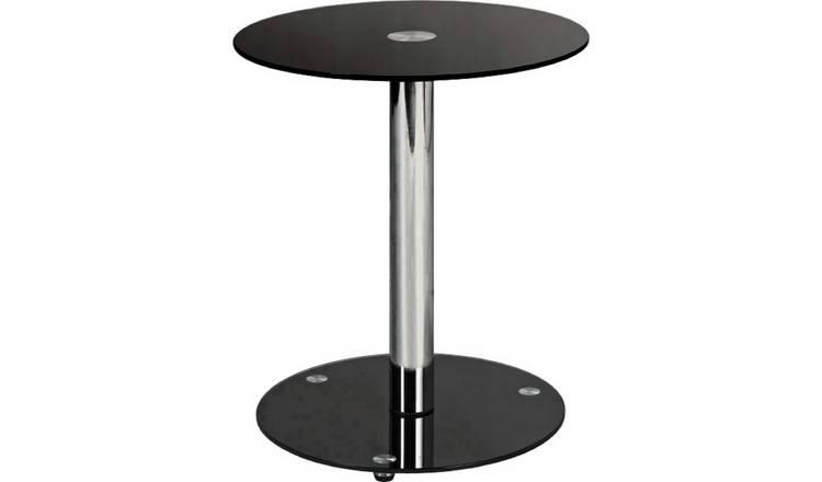 Buy Argos Home Matrix Round Glass Lamp Table Black Side Tables Argos