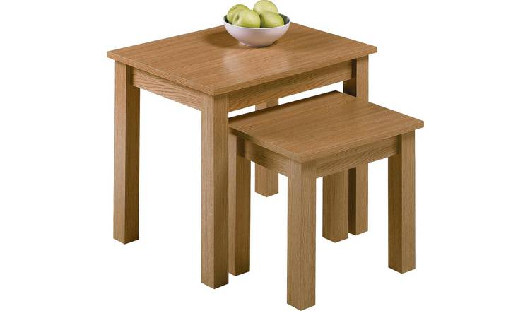 Habitat Nest of 2 Tables - Oak Effect
