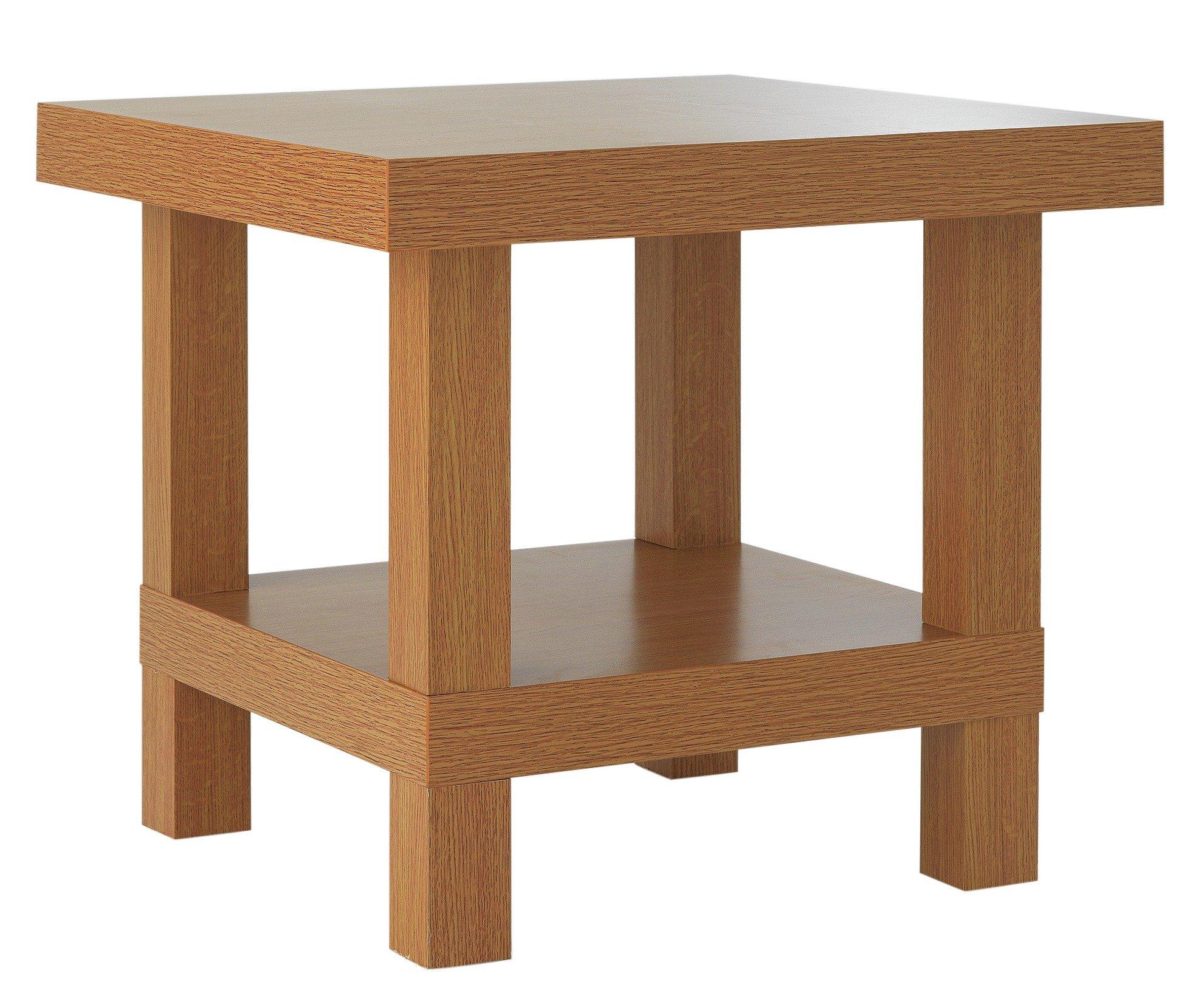 Argos Home Stratford Chunky End Table - Oak Effect
