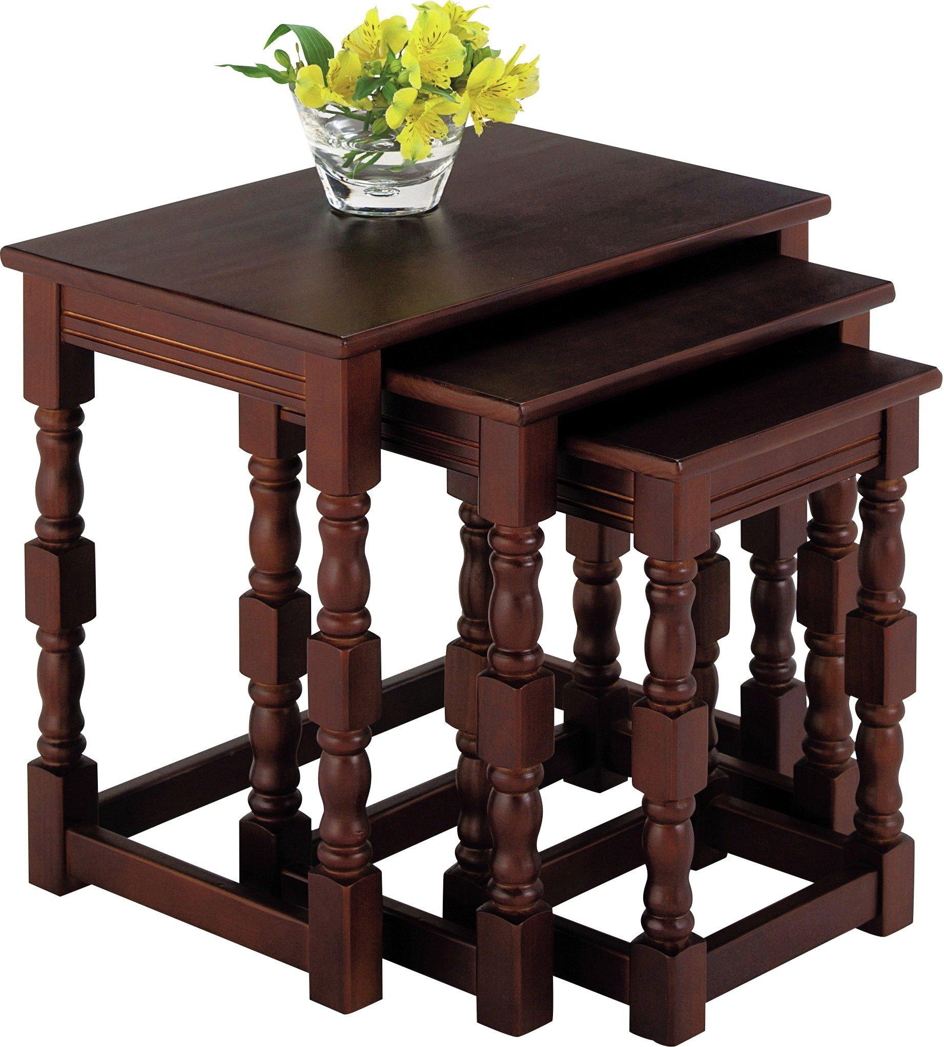 Argos Home Devon Nest Of 3 Solid Pine Tables