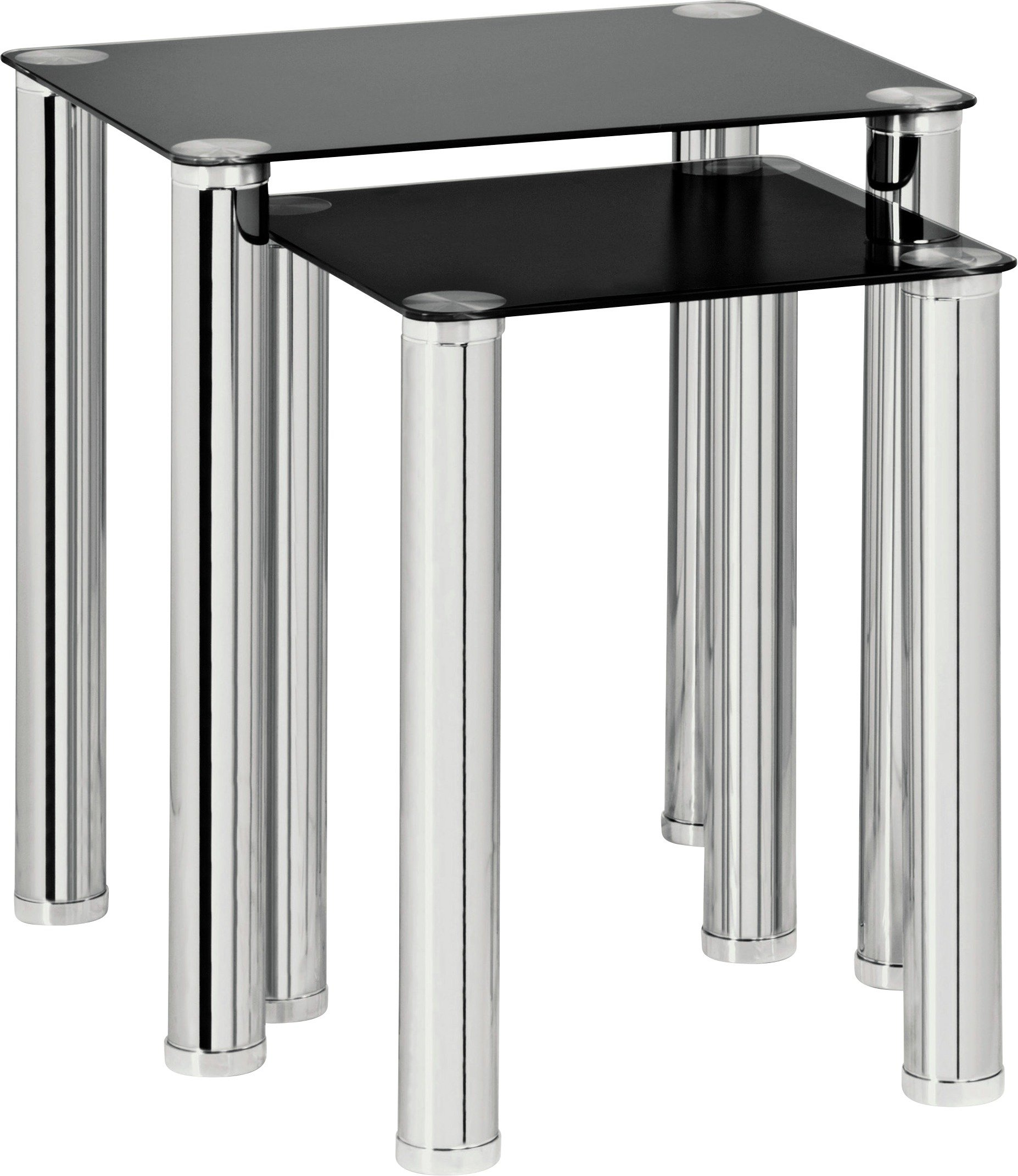 Black Glass Tables buy home matrix nest of 2 tables - black glass at argos.co.uk