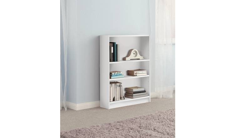 Habitat 2 Shelf Small Bookcase - White