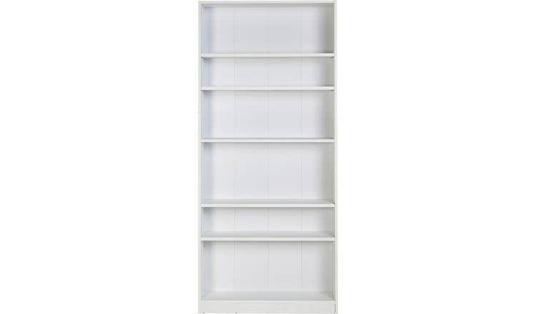 Habitat Maine 5 Shelf Tall Wide Bookcase - White
