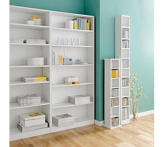 Buy HOME Maine Tall Wide Bookcase White at Argoscouk Your – 60 Wide Bookcase