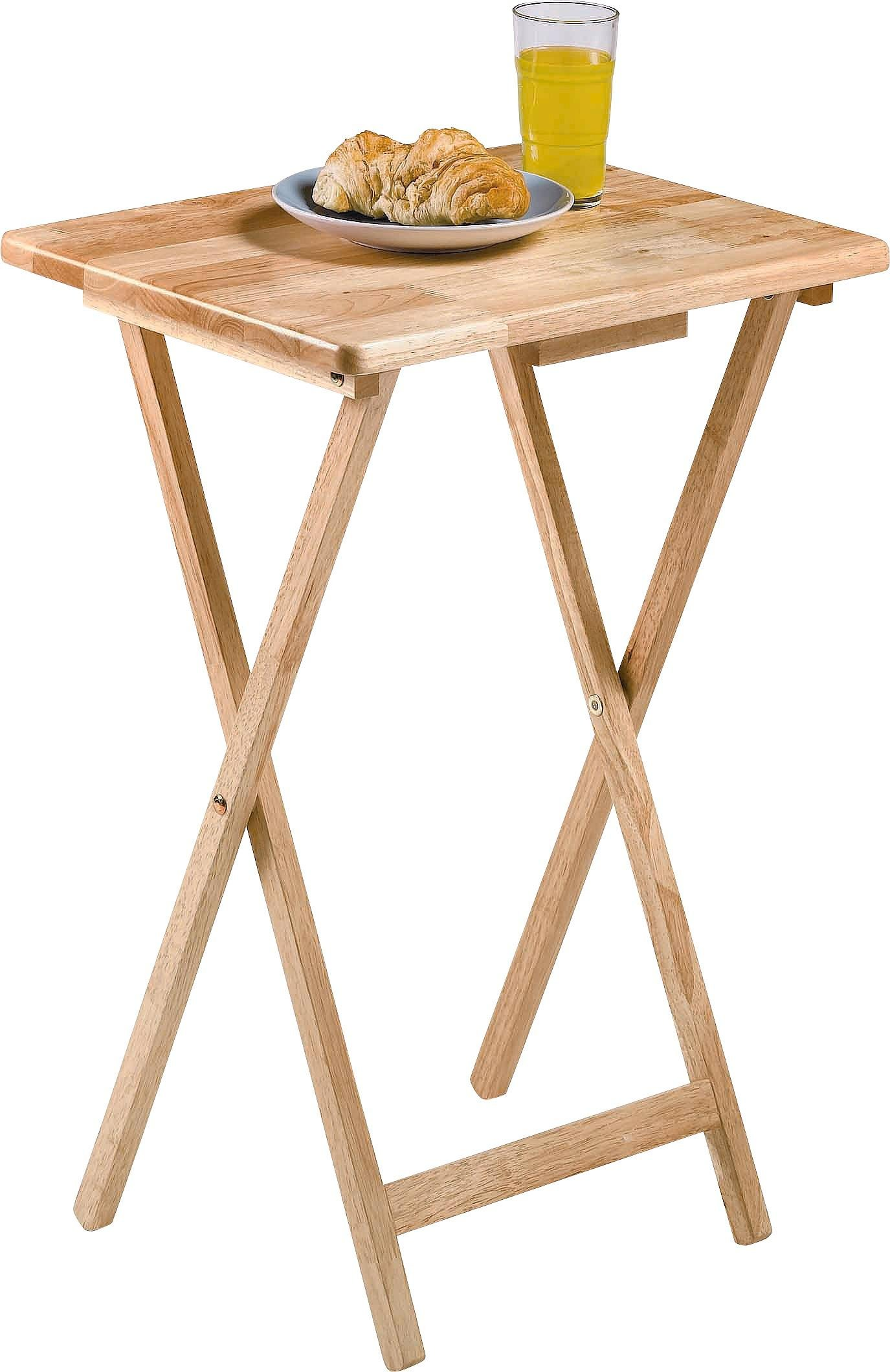 Buy HOME Single Folding Tray Table Natural Coffee tables side