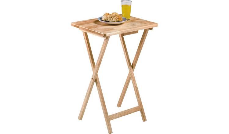 Buy Argos Home Single Folding Tray Table Natural Side Tables Argos