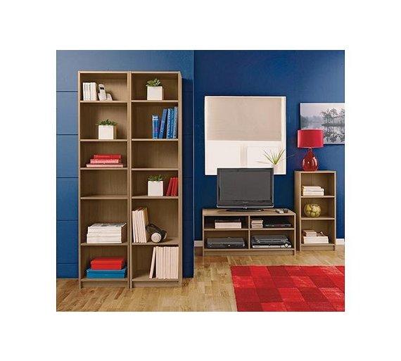 Buy Home Maine Half Width Tall Extra Deep Bookcase Oak