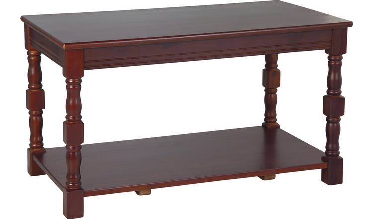Argos Home Devon Solid Pine Coffee Table - Walnut Effect