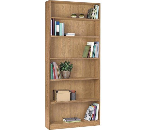 Buy Argos Home Maine 5 Shelf Tall Wide Bookcase