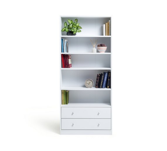 Argos Home Maine 4 Shelf 2 Drawer Bookcase