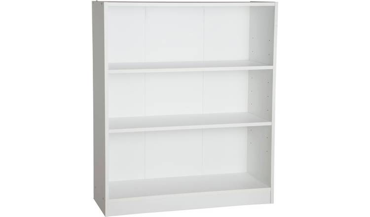 Habitat Maine 2 Shelf Small Bookcase - White