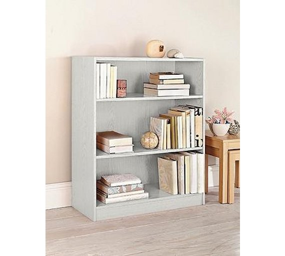 Buy home maine small extra deep bookcase white at argos How deep should a bookshelf be