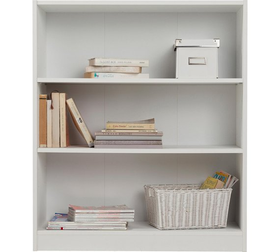 buy home maine 2 shelves small extra deep bookcase white. Black Bedroom Furniture Sets. Home Design Ideas