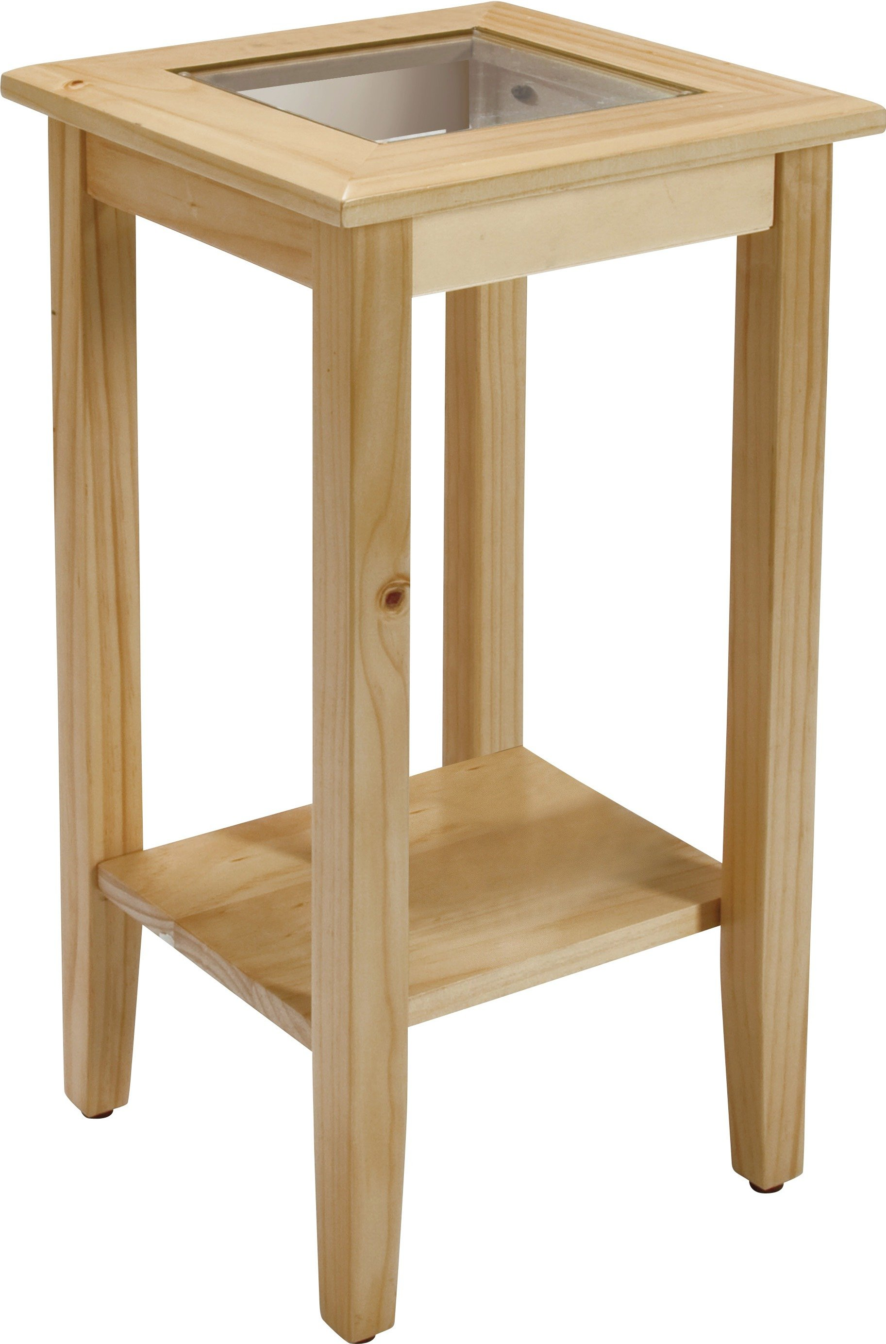 Argos Home 1 Shelf Solid Pine and Glass Top Telephone Table review