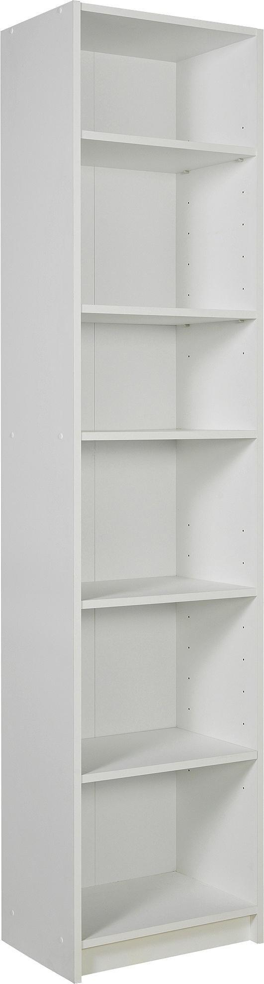 Buy Home Maine 5 Shelf Half Width Extra Deep Bookcase White