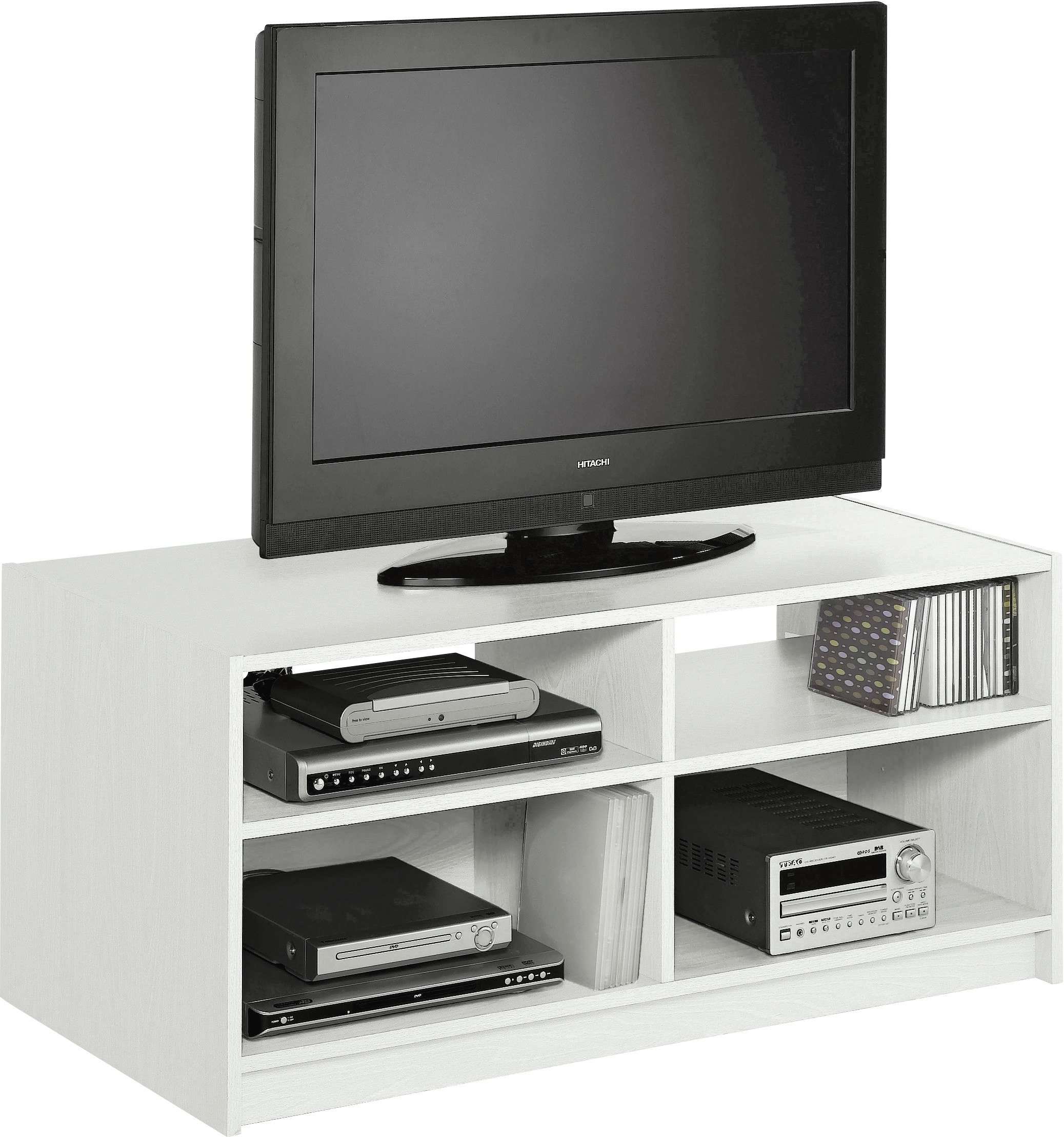 Argos home maine tv unit white