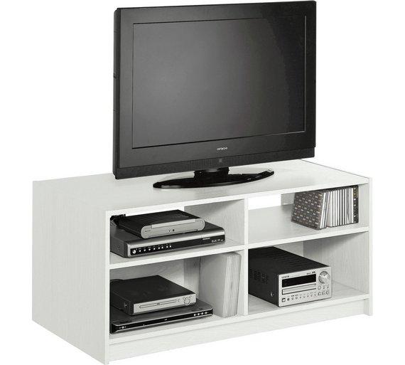 Argos home maine tv unit white