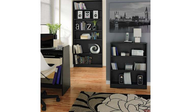 Habitat 2 Shelf Small Bookcase - Black