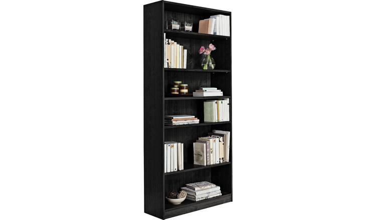 online store 34776 1b634 Buy Argos Home Maine 5 Shelf Tall & Wide Deep Bookcase - Black | Bookcases  and shelving units | Argos