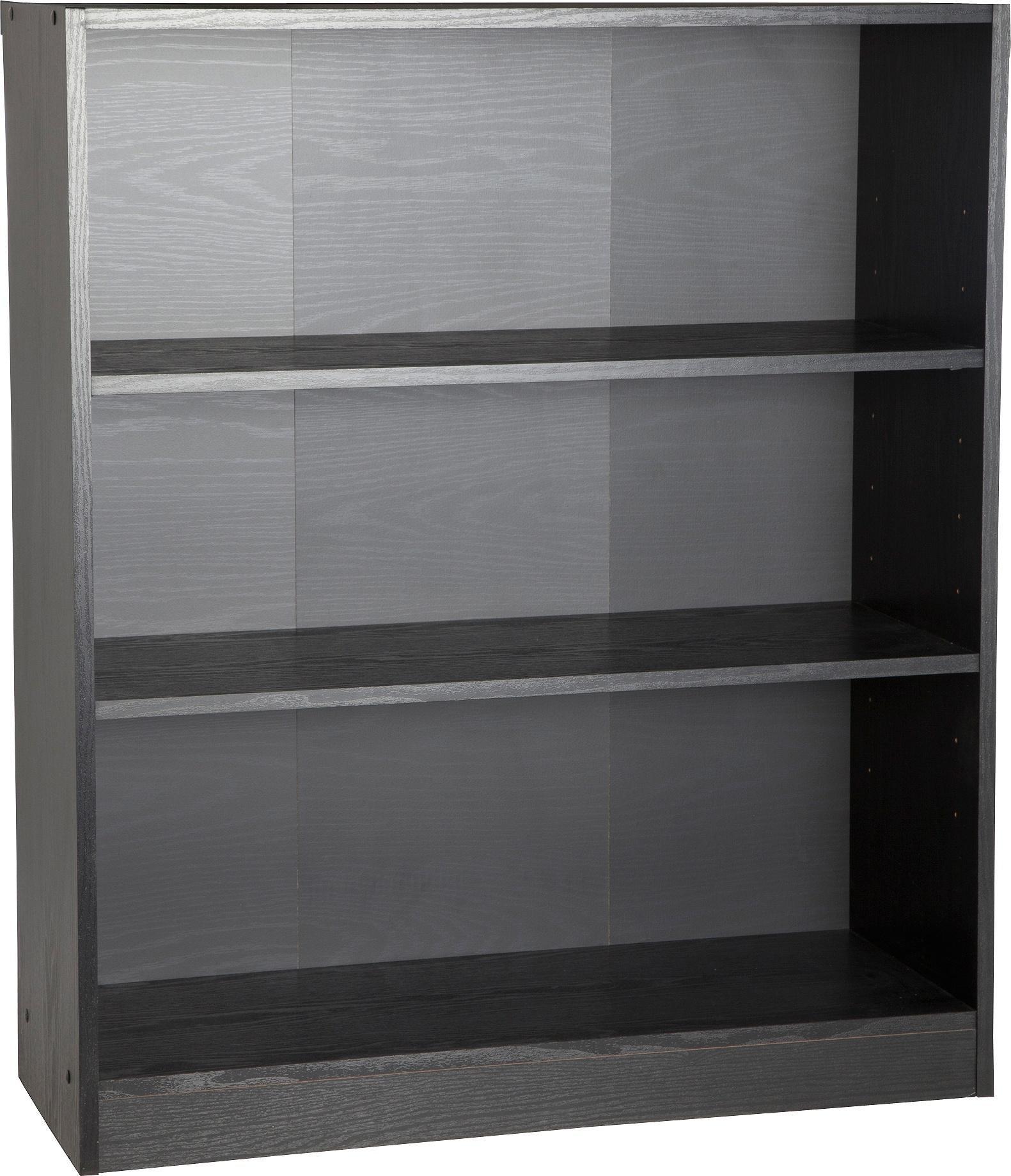 Habitat Maine 2 Shelf Small Bookcase - Black Ash Effect