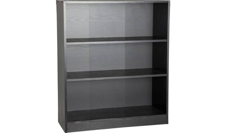 Habitat Maine 2 Shelf Small Bookcase - Black Ash Effect