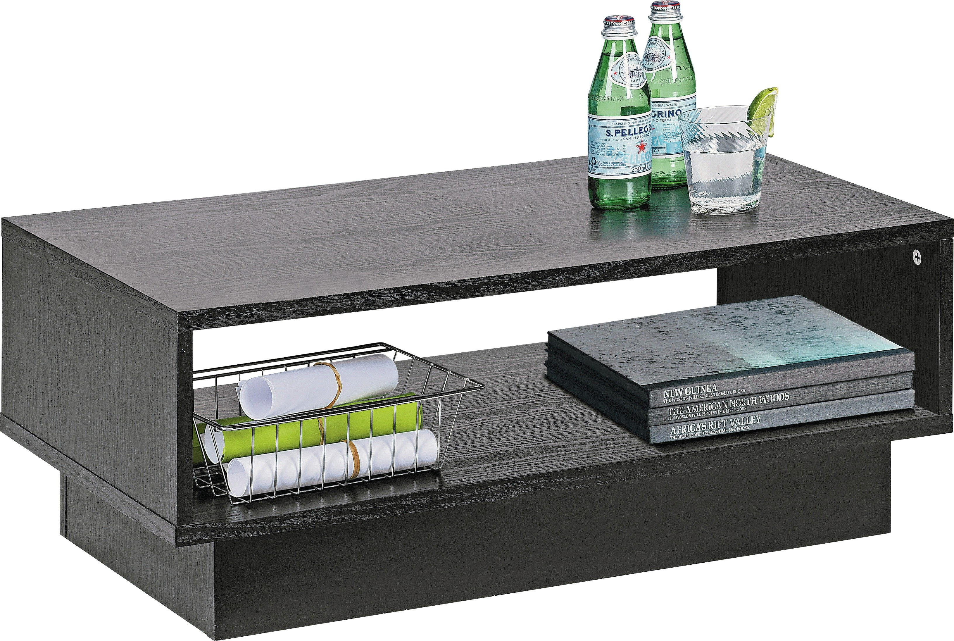buy home cubes 1 shelf coffee table - black ash at argos.co.uk