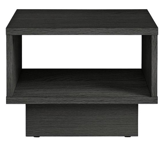 Buy HOME Cubes 1 Shelf End Table - Black Ash
