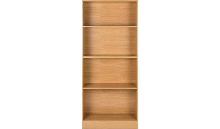 outlet store sale 7862e 47d4e Buy Argos Home Maine 5 Shelf Wide Deep Bookcase - Oak Effect | Bookcases  and shelving units | Argos