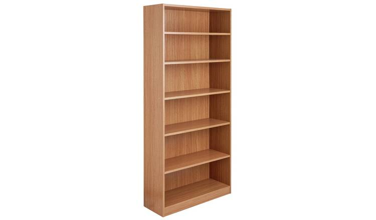 Argos Home Maine 5 Shelf Wide Deep Bookcase - Oak Effect