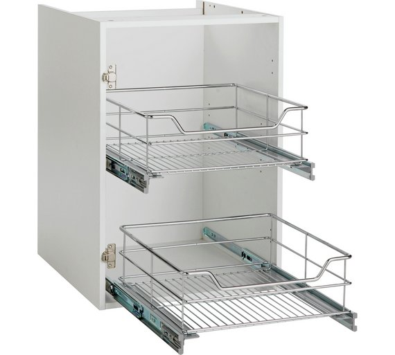 Buy spencers valencia 500mm pull out basket soft close at for Kitchen cupboard carcasses 600mm