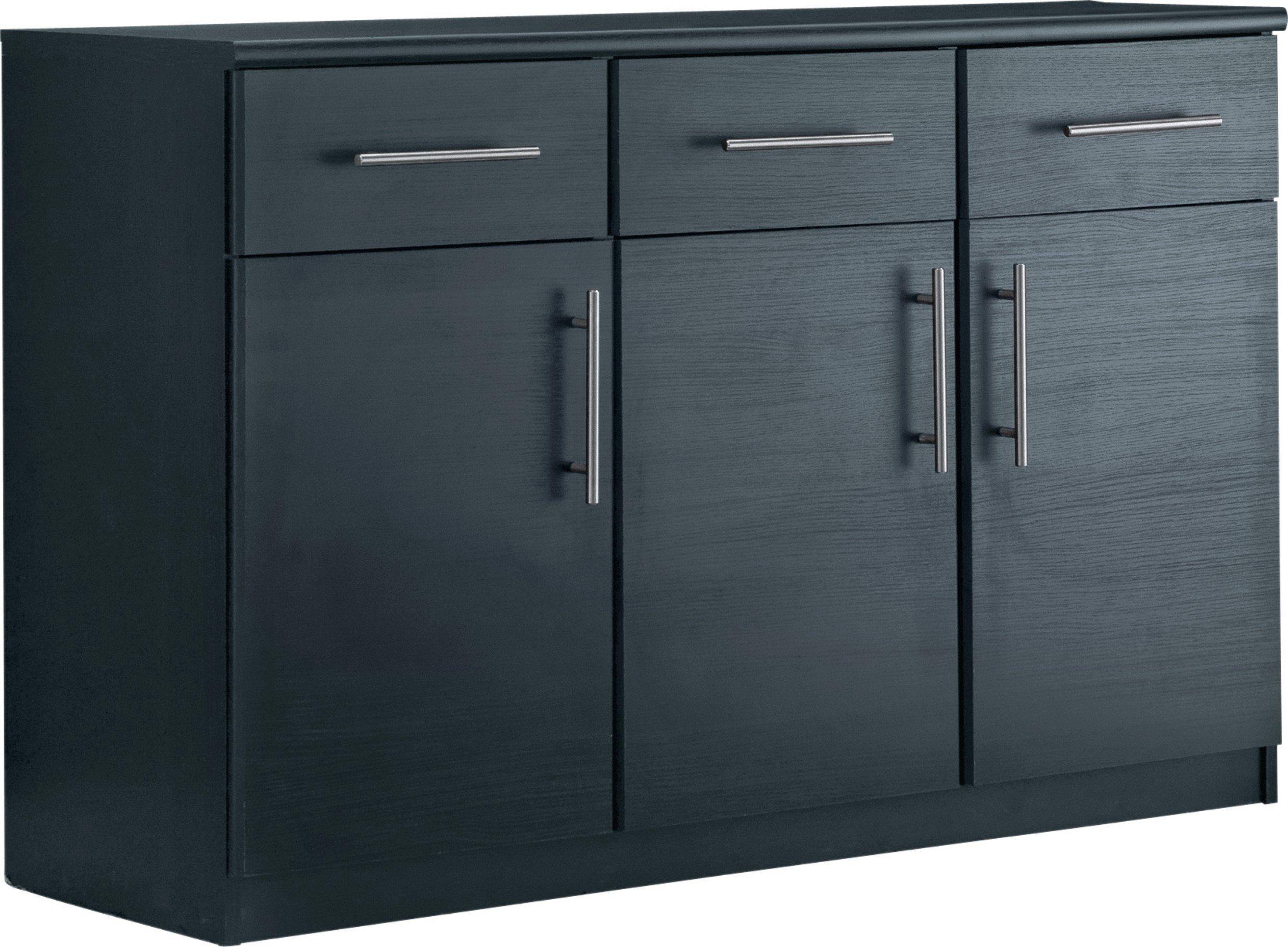Argos Home Anderson 3 Door 3 Drawer Sideboard - Black