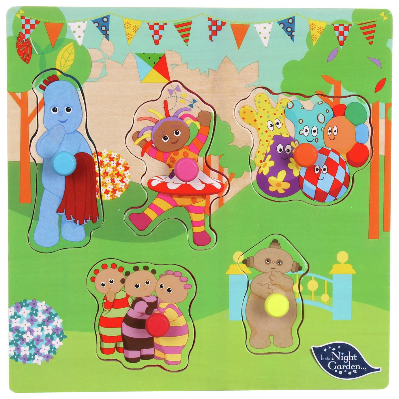 In The Night Garden - Pick and Place Wooden Puzzle.