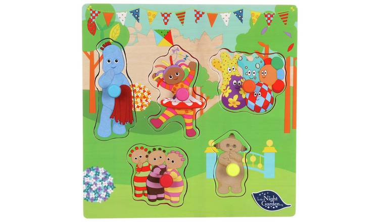 In The Night Garden Pick and Place Wooden Puzzle